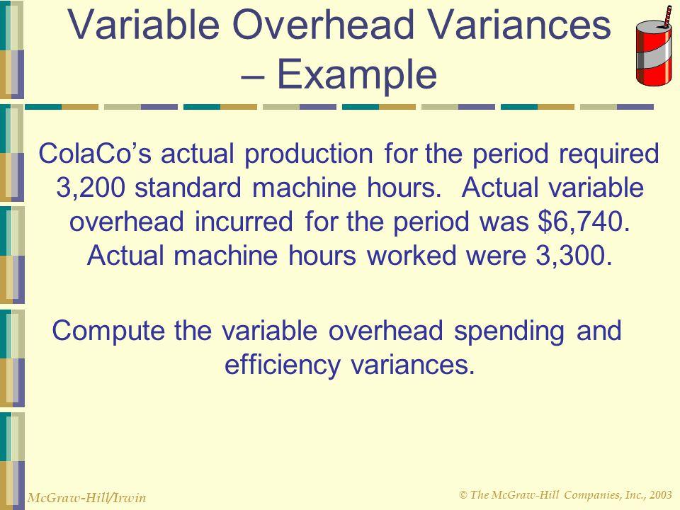 © The McGraw-Hill Companies, Inc., 2003 McGraw-Hill/Irwin TotalVariableTotalFixed MachineVariableOverheadFixedOverhead HoursOverheadRateOverheadRate 2
