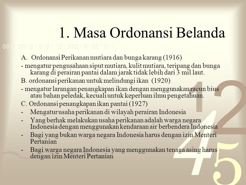 1.Masa Ordonansi Belanda A.