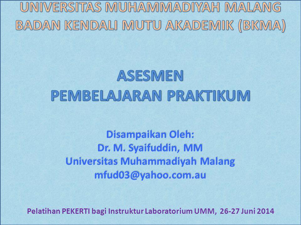 Disampaikan Oleh: Dr. M. Syaifuddin, MM Universitas Muhammadiyah Malang mfud03@yahoo.com.au Disampaikan Oleh: Dr. M. Syaifuddin, MM Universitas Muhamm