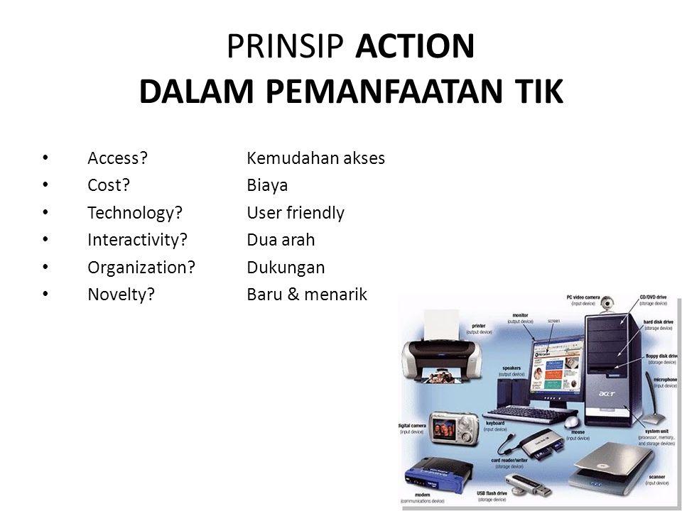 Access?Kemudahan akses Cost?Biaya Technology?User friendly Interactivity.