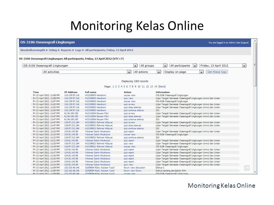 Monitoring Kelas Online