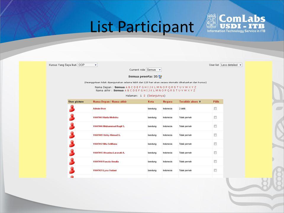 List Participant
