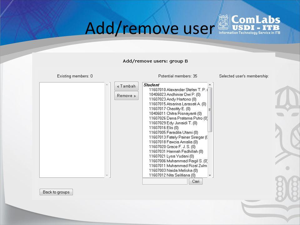 Add/remove user