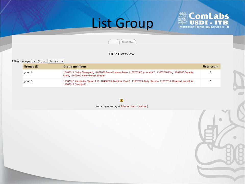 List Group