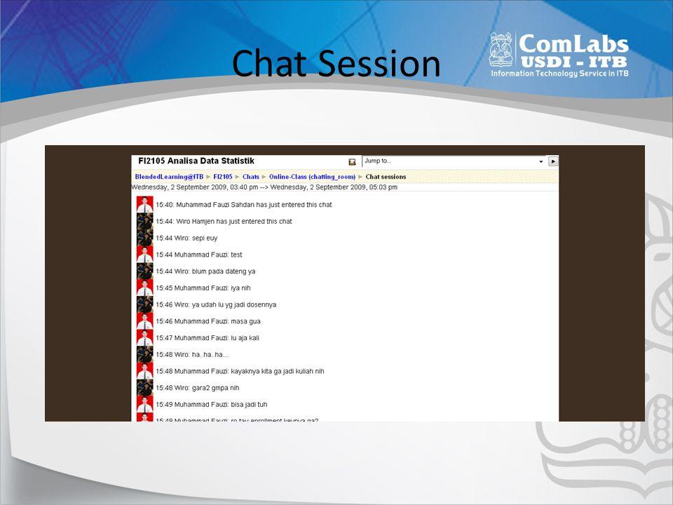 Menjadwalkan Chat Klik [Turn Editing On] Klik [Add an Activities], [Chat]