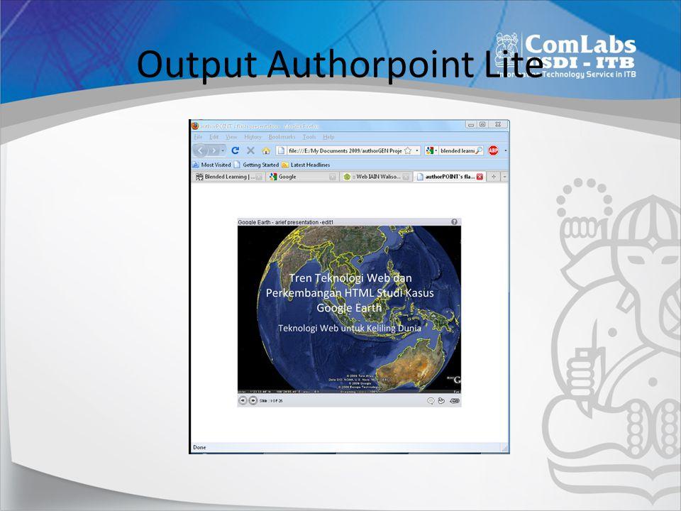 Output Authorpoint Lite