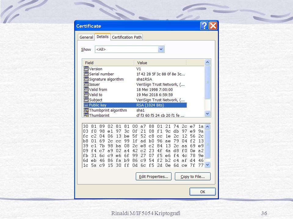 Rinaldi M/IF5054 Kriptografi36