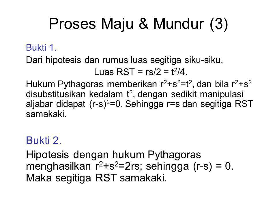 Proses Maju & Mundur (3) Bukti 1.