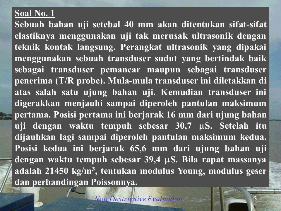 Non Destructive Evaluation6   d T/R Bahan ujiL1L1 L2L2 T/R x y