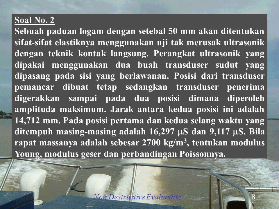 Non Destructive Evaluation9   d L T R1R1 R2R2 Paduan logam L1L1 L2L2