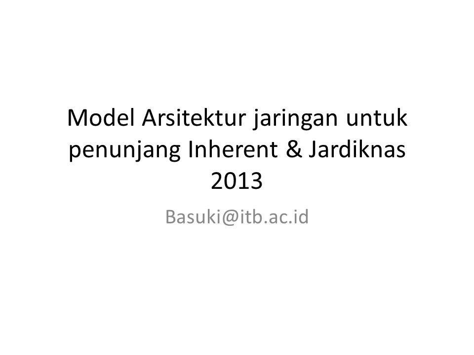 Model Arsitektur jaringan untuk penunjang Inherent & Jardiknas 2013 Basuki@itb.ac.id