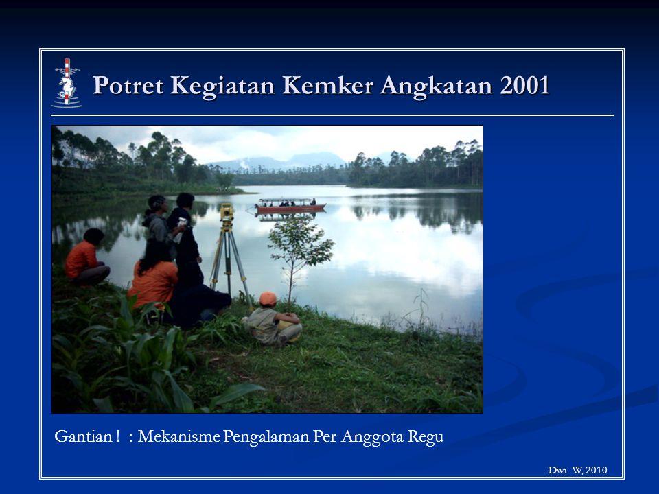 Potret Kegiatan Kemker Angkatan 2001 Dwi W, 2010 Gantian ! : Mekanisme Pengalaman Per Anggota Regu