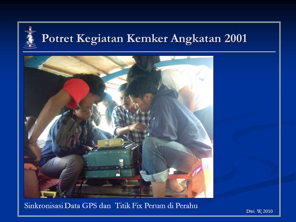Potret Kegiatan Kemker Angkatan 2001 Dwi W, 2010 Sinkronisasi Data GPS dan Titik Fix Perum di Perahu