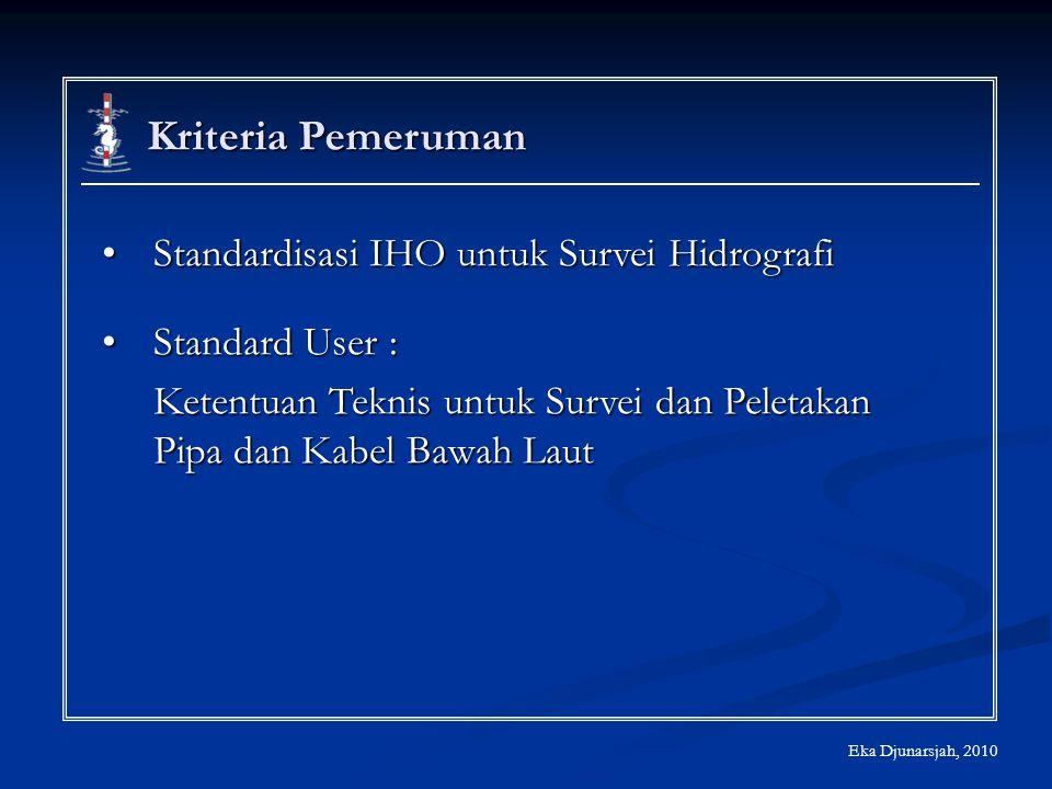 Kriteria Pemeruman Standardisasi IHO untuk Survei HidrografiStandardisasi IHO untuk Survei Hidrografi Standard User :Standard User : Ketentuan Teknis