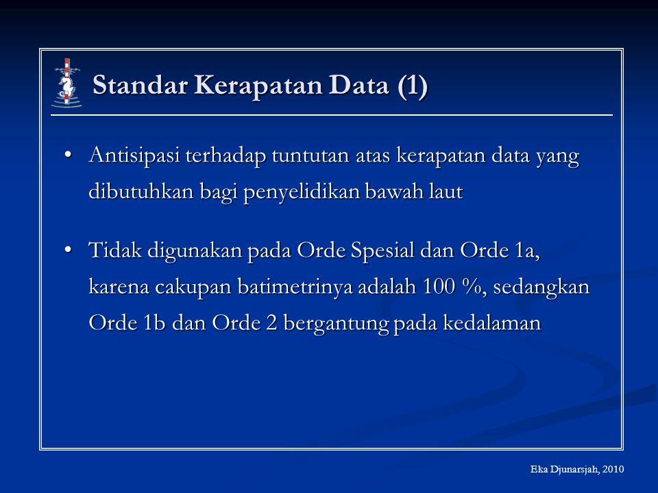 Standar Kerapatan Data (1) Antisipasi terhadap tuntutan atas kerapatan data yang dibutuhkan bagi penyelidikan bawah lautAntisipasi terhadap tuntutan a