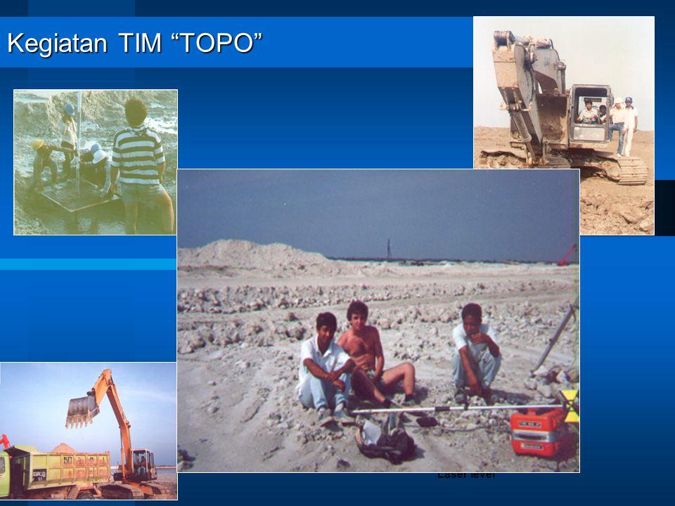 "Kegiatan TIM ""TOPO"" Proses Griding menggunakan Rotating Laser level"