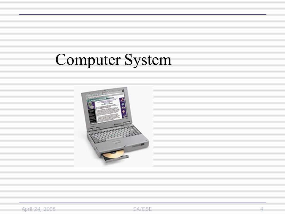 April 24, 2008SA/DSE25 Computer Network & Internet