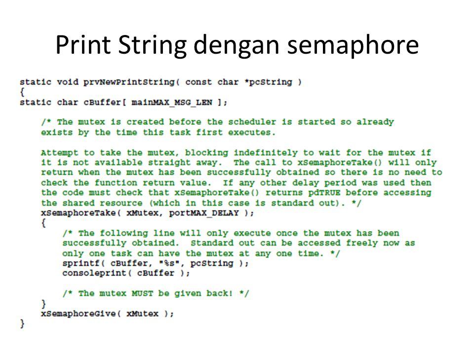Print String dengan semaphore