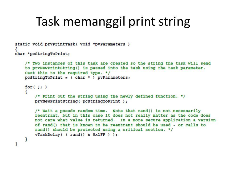 Task memanggil print string