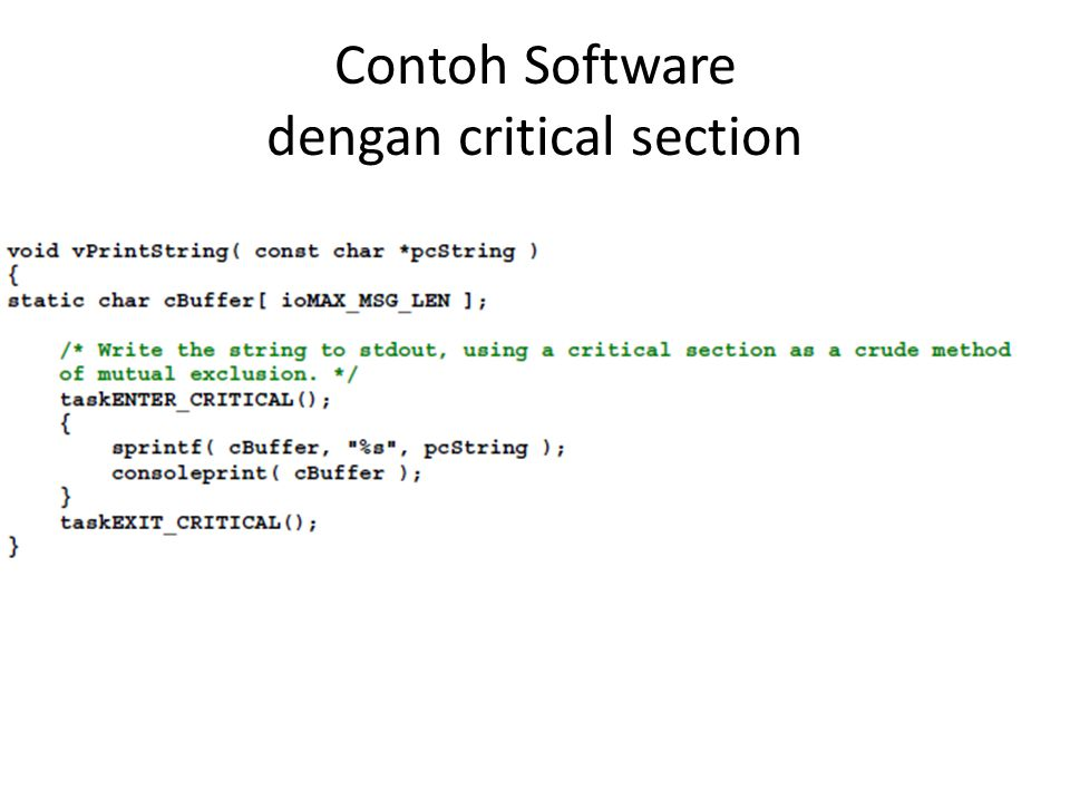 Contoh Software dengan critical section