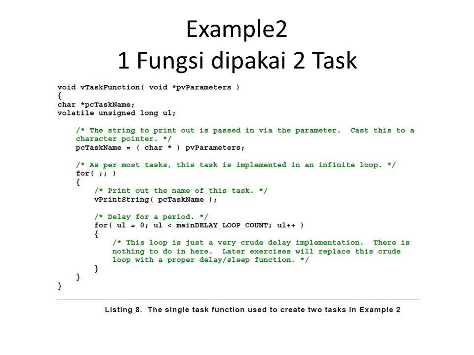 Example2 1 Fungsi dipakai 2 Task