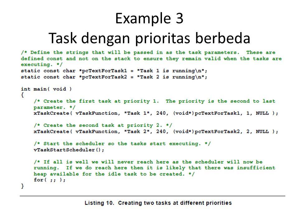 Example 3 Task dengan prioritas berbeda