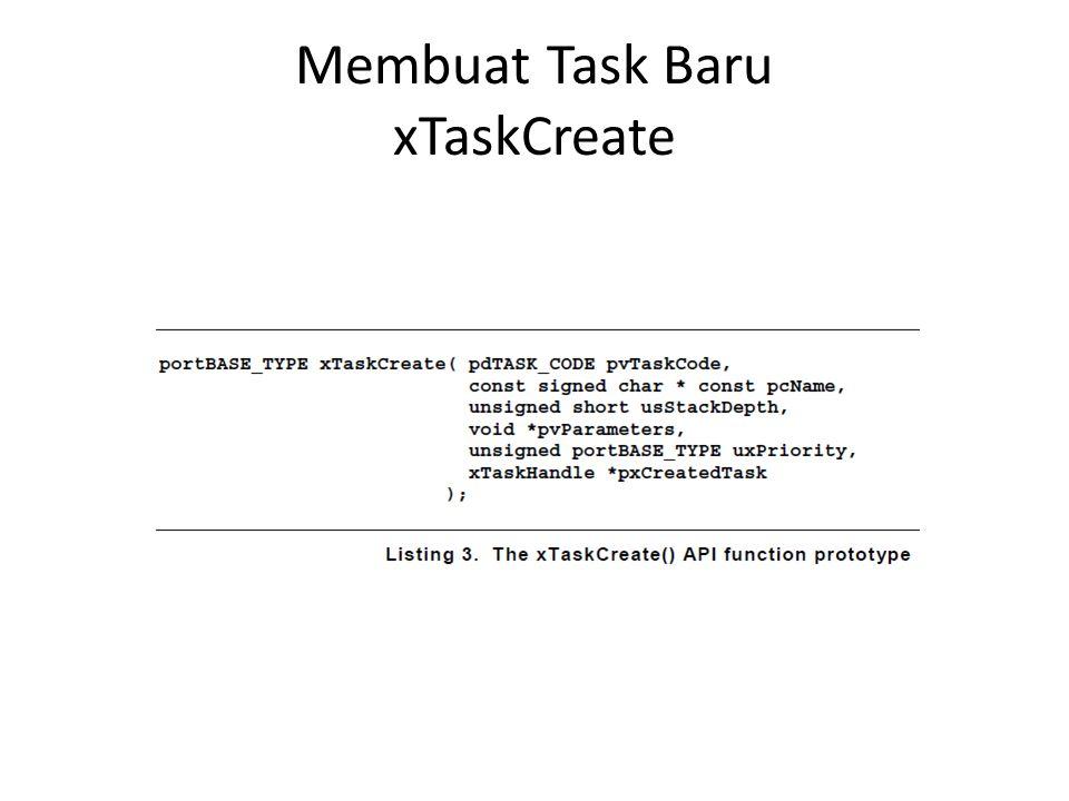 Membuat Task Baru xTaskCreate
