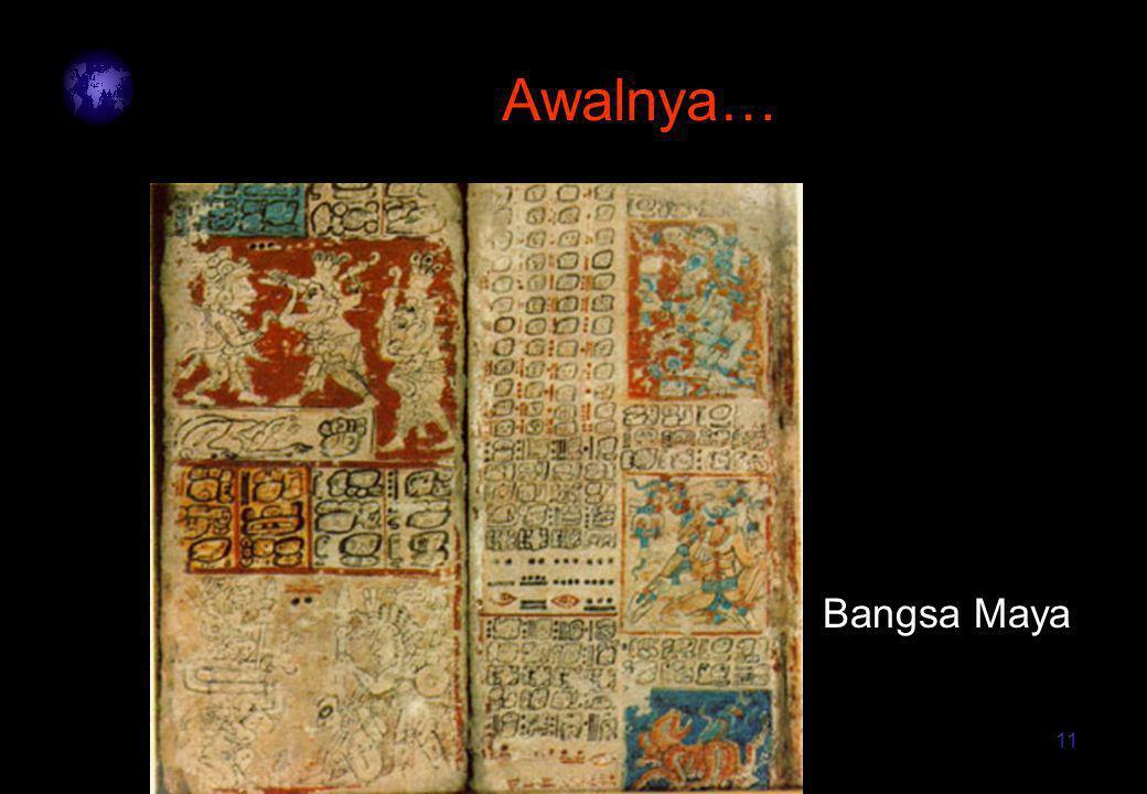 11 Awalnya… Bangsa Maya