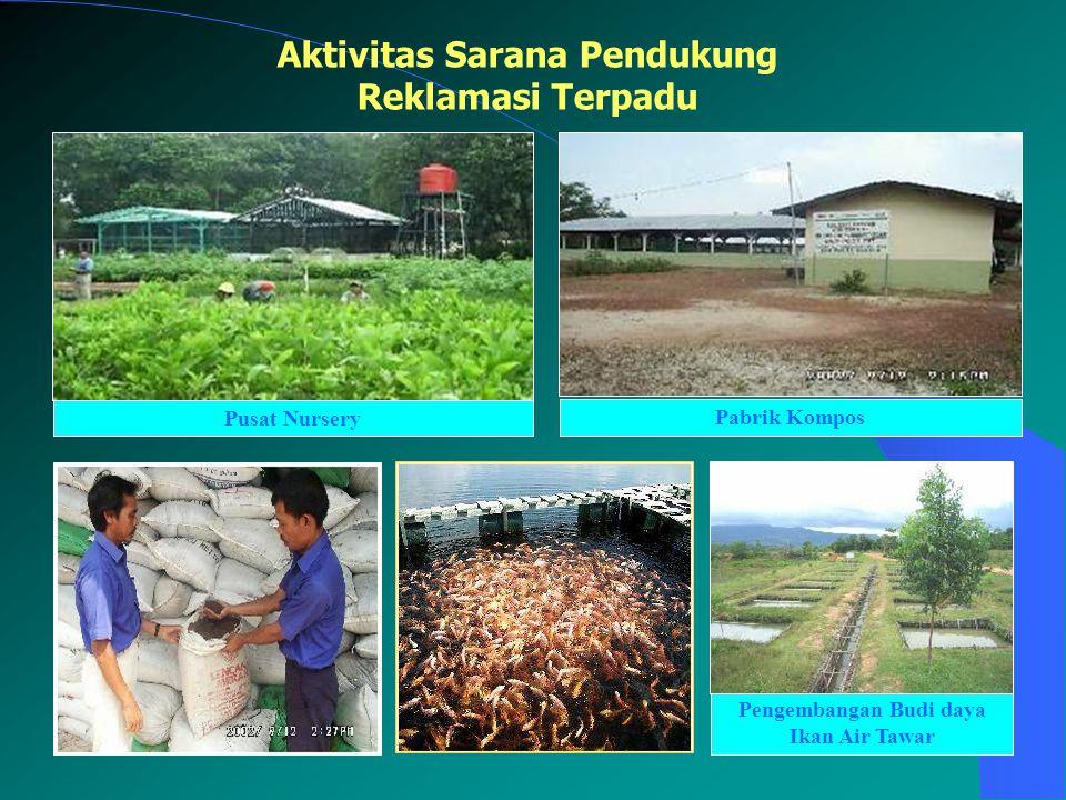 Pusat Nursery Aktivitas Sarana Pendukung Reklamasi Terpadu Pabrik Kompos Pengembangan Budi daya Ikan Air Tawar