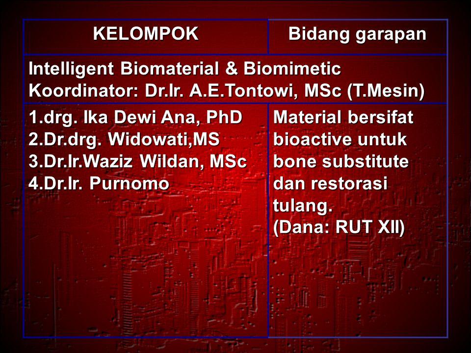 KELOMPOK Bidang garapan Structural Material Koordinator: Dr.Ir.Fitri Marjono (T.Sipil) 1.Prof.