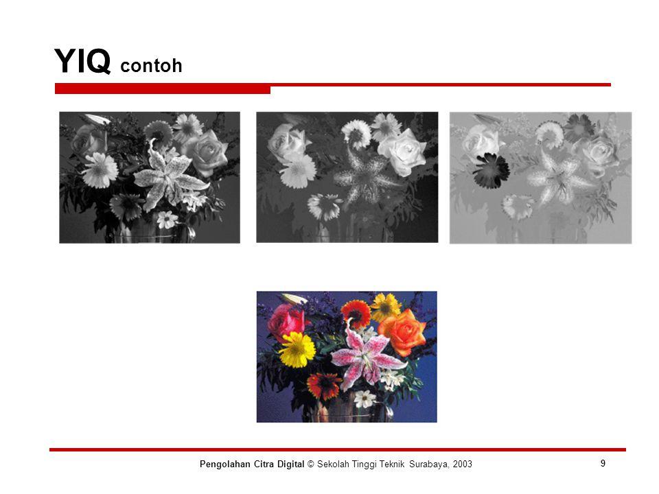 YIQ contoh Pengolahan Citra Digital © Sekolah Tinggi Teknik Surabaya, 2003 9