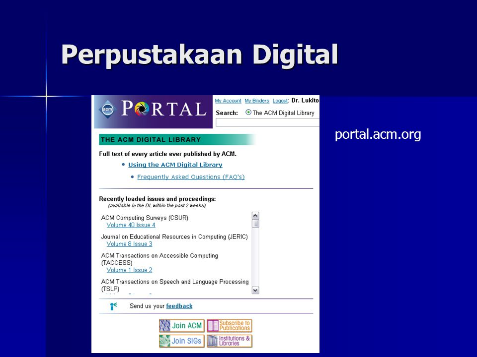 Perpustakaan Digital portal.acm.org
