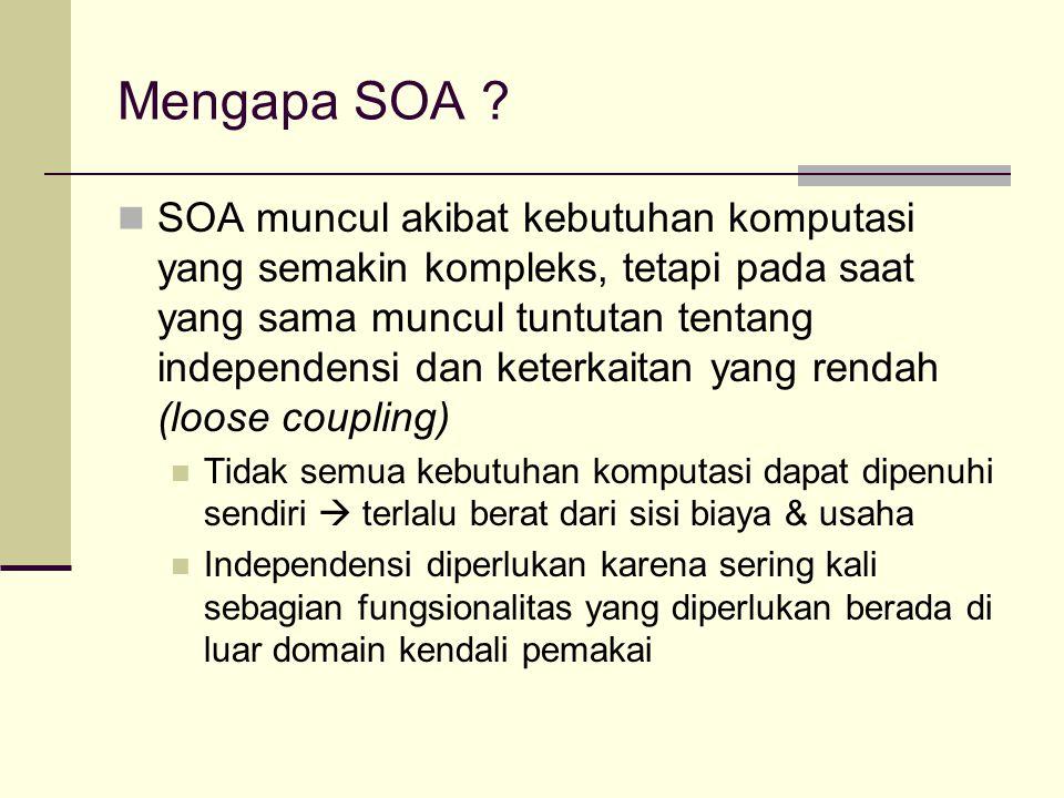 Mengapa SOA .