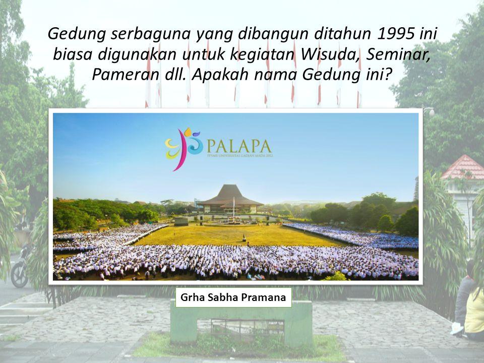 Gedung serbaguna yang dibangun ditahun 1995 ini biasa digunakan untuk kegiatan Wisuda, Seminar, Pameran dll.