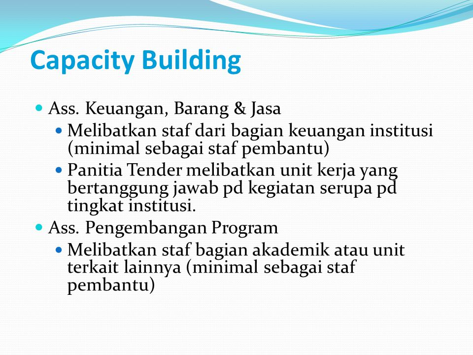 Capacity Building Ass.