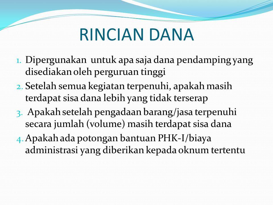 RINCIAN DANA 1.