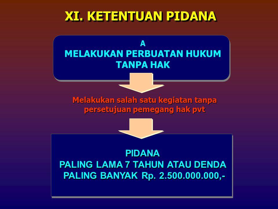 PIDANA PALING LAMA 7 TAHUN ATAU DENDA PALING BANYAK Rp.