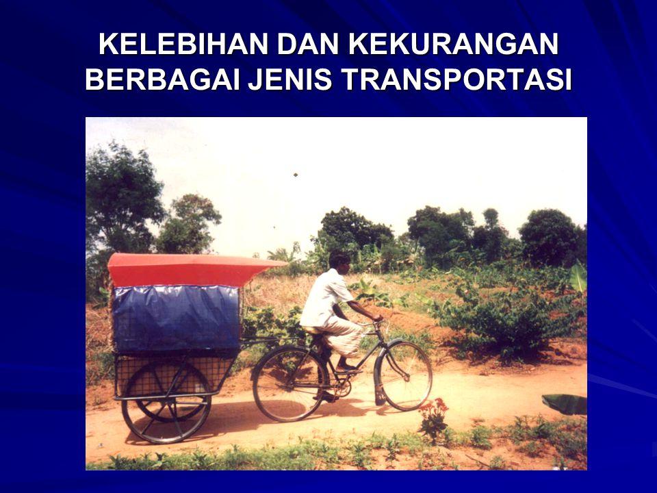 KEKURANGAN TRANSPORTASI UMUM Kekurangan pelayanan dari door to door Hanya cocok untuk daerah yang padat penduduk