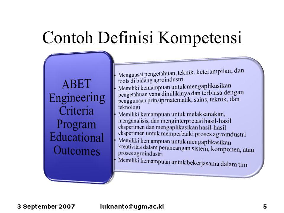 Contoh Definisi Kompetensi 3 September 2007luknanto@ugm.ac.id5