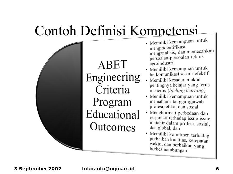 Contoh Definisi Kompetensi 3 September 2007luknanto@ugm.ac.id6