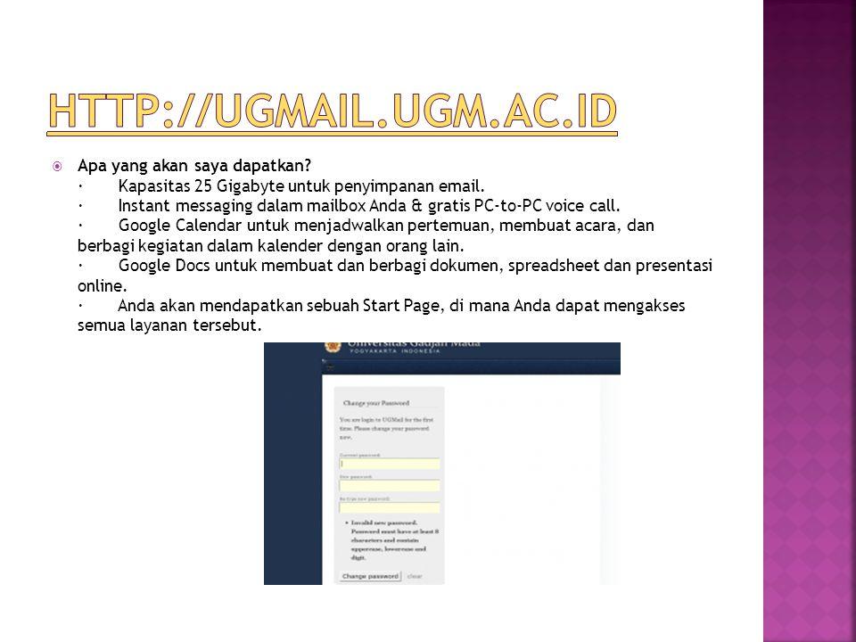  Apa yang akan saya dapatkan? · Kapasitas 25 Gigabyte untuk penyimpanan email. · Instant messaging dalam mailbox Anda & gratis PC-to-PC voice call. ·