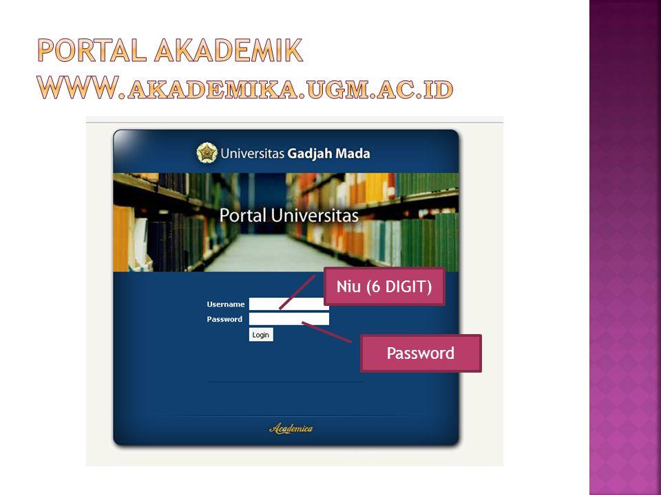  www.akademik.fisipol.ugm.ac.id/pasca Merupakan portal yang diperuntukkan untuk mengupdate data Diri.