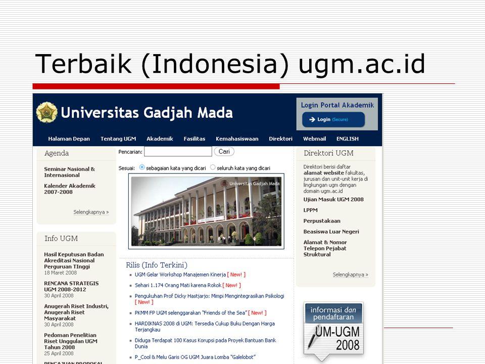 Terbaik (Indonesia) ugm.ac.id