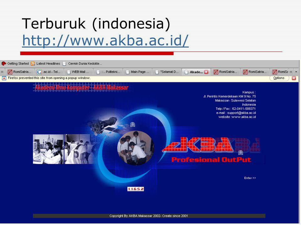 Terburuk (indonesia) http://www.akba.ac.id/ http://www.akba.ac.id/