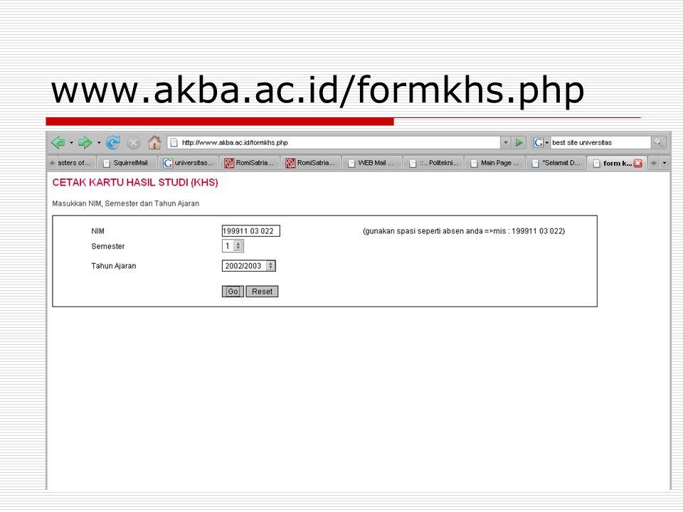 www.akba.ac.id/formkhs.php