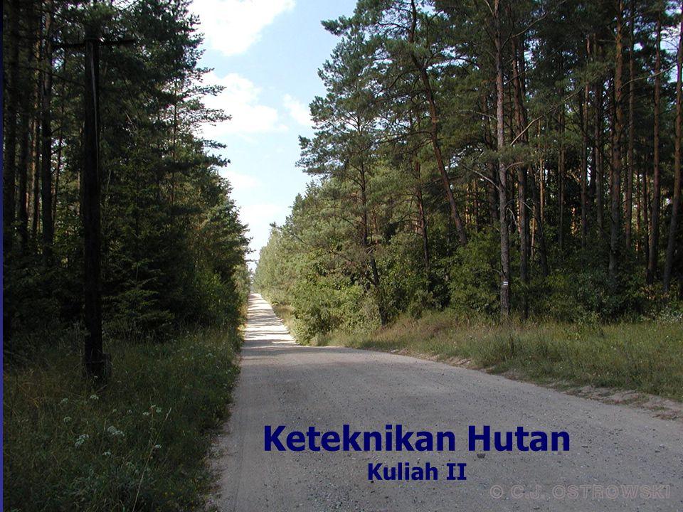 Posisi Keteknikan Hutan/ Pembukaan Wilayah Hutan (PWH) dalam Pengelolaan Hutan Urgency PWH Jenis-jenis PWH Beberapa hal lain yang berkaitan dengan perkuliahan Bahasan Kuliah II