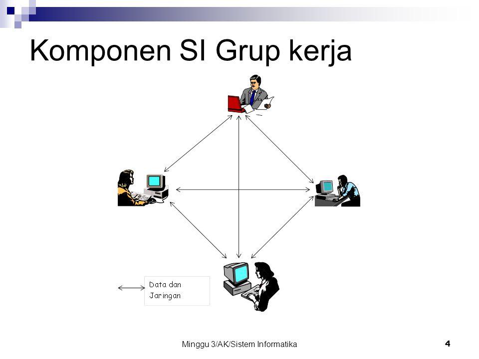 Minggu 3/AK/Sistem Informatika15 Personil Pemakai akhir Pemakai akhir (juga disebut pemakai atau klien) adalah orang yang memakai sistem informasi atau informasi yang dihasilkan oleh sistem informasi.
