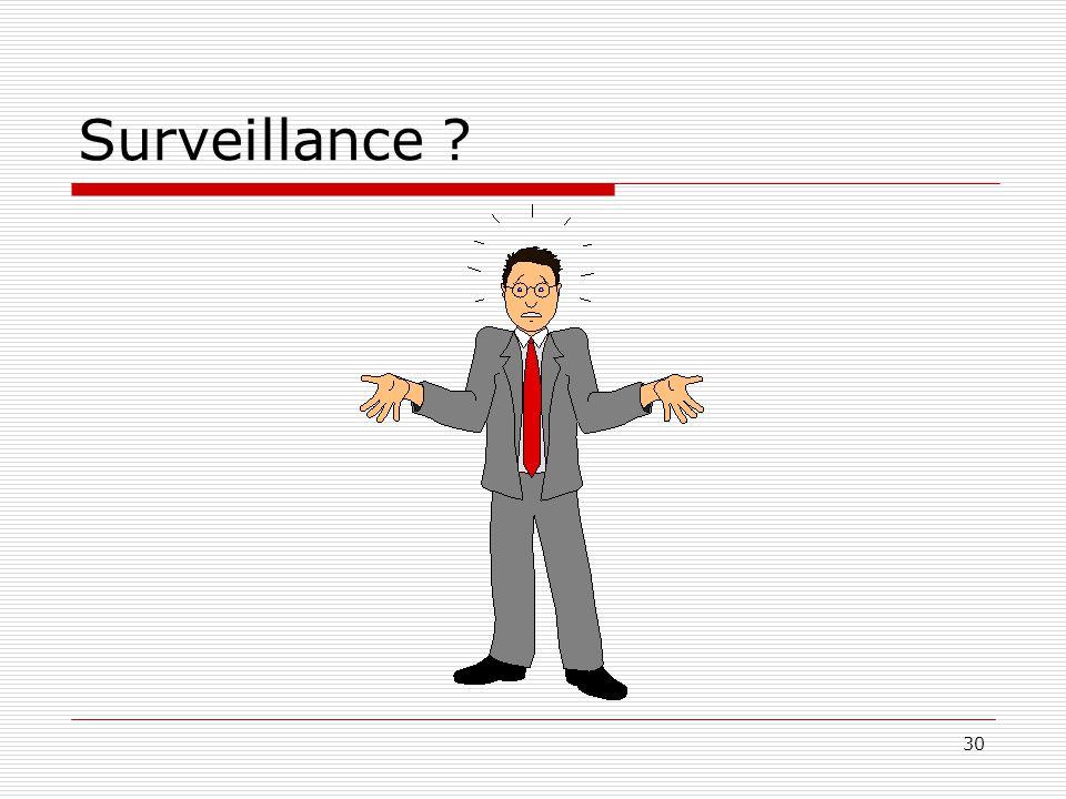 Surveillance ? 30