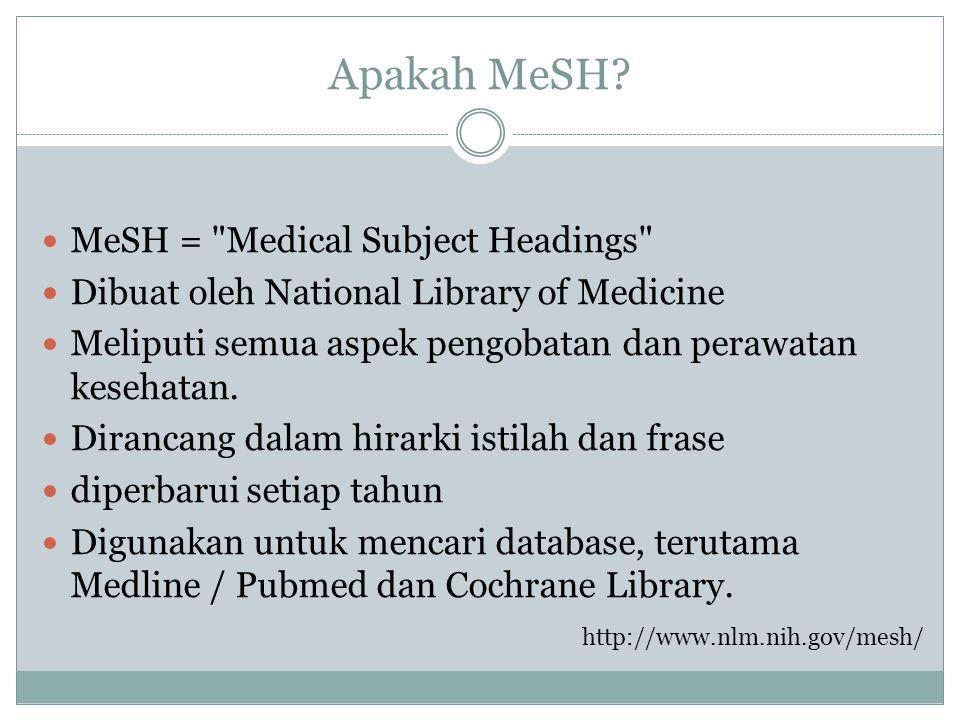 Apakah MeSH? MeSH =