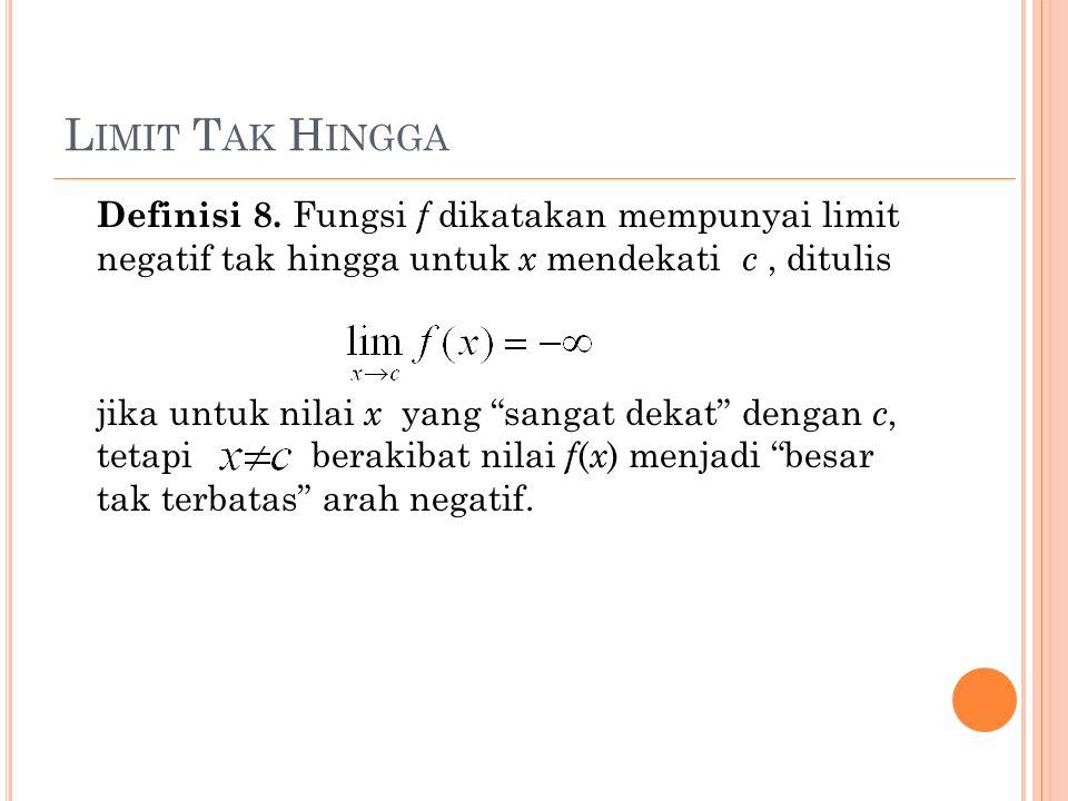 L IMIT T AK H INGGA Definisi 8.